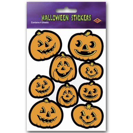 Halloween Party Jack-O-Lantern Stickers (48 sheets) (Halloween Division Sheets)