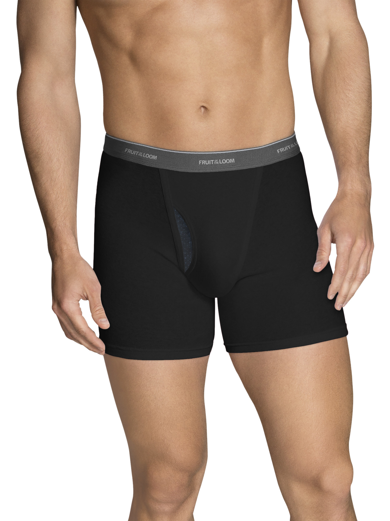 Big Men's CoolZone Fly Dual Defense Short Leg Boxer Briefs, Extended Sizes, 4 Pack