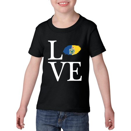 Love Mexico State of Jalisco Toddler Heavy Cotton T-Shirt Kids Tee Clothing