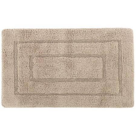 """Tapis bain coton peigné étape réversible à séchage rapide (absorbant 28x18"""") - image 1 de 1"""