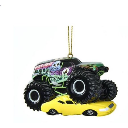 Monster Jam Grave Digger Monster Truck Christmas Tree Ornament MJ2171 New - Paper Christmas Tree Ornaments