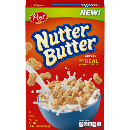 post nutter butter breakfast cereal peanut butter 19 oz walmart com