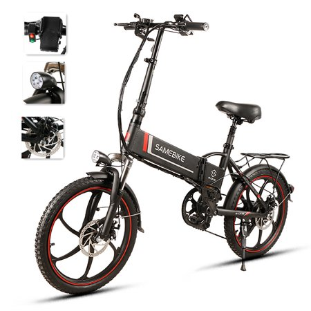 20 Inch Folding Electric Bike Power Assist Electric Bicycle E-Bike Scooter 350W Motor Conjoined