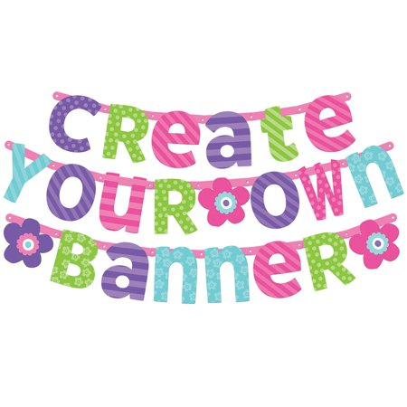 Pastel Customizable Letter Banner (Each) - Party Supplies (Customizable Banner)