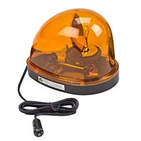 Wolo (3200-A) Emergency 1 Rotating Emergency Warning Light - Amber Lens, Magnet Mount