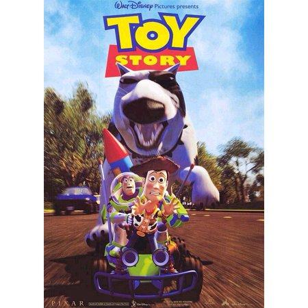 "Toy Story - Disney / Pixar Movie Poster / Print (Car Chase - Buzz Lightyear & Woody) (Size: 27"" x 39"")"