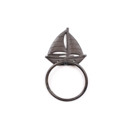 Cast Iron Decorative Sailboat Towel Holder 8