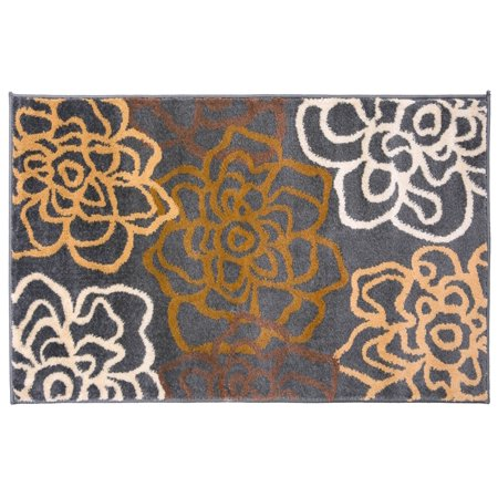 World Rug Gallery Contemporary Modern Floral Flowers Brown 2