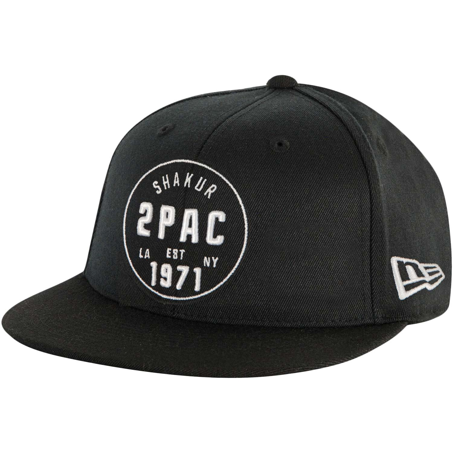 Tupac Men's Old School Snapback Baseball Cap Adjustable Black
