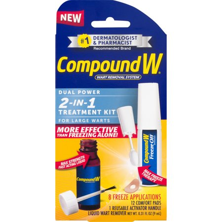 Compound W 2-in-1 Wart Removal Kit, Liquid Wart Remover, 8 Freeze
