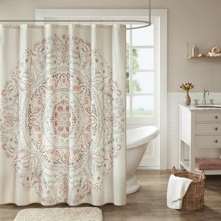 Home Essence Kaia 100% Cotton Printed Shower Curtain