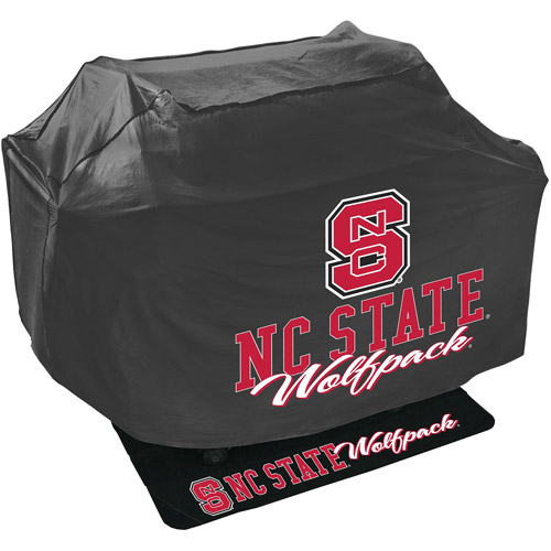 Mr. Bar-B-Q NCAA Grill Cover and Grill Mat Set, North Carolina State Wolfpack