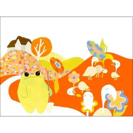 Oopsy Daisy - Bennett and the Visitors Canvas Wall Art 24x18, Robin Rosenthal