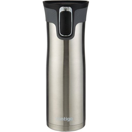 Contigo AUTOSEAL West Loop Vacuum-Insulated Stainless Steel Travel Mug with Easy-Clean Lid, 20 oz., Stainless Steel