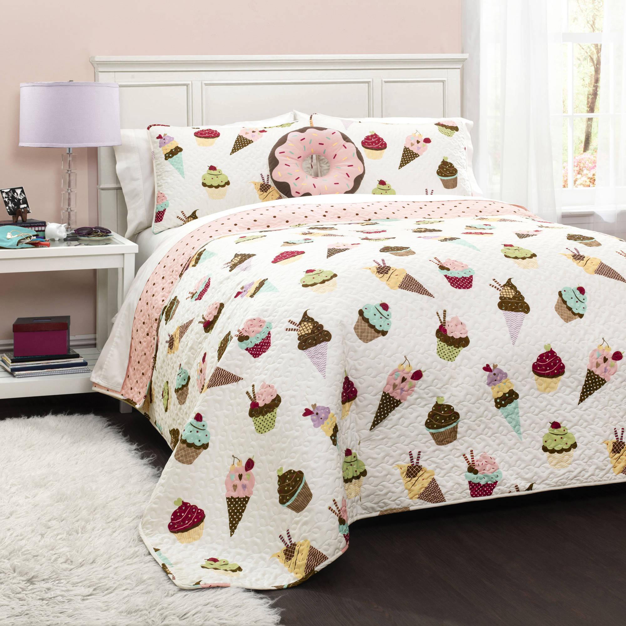 Cupcake Ice Cream Bedding Quilt Set Walmart Com