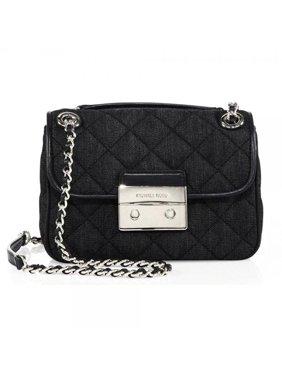 c63260841032 Product Image Michael Kors Sloan Dark Denim Shoulder Bag Silver New Bag