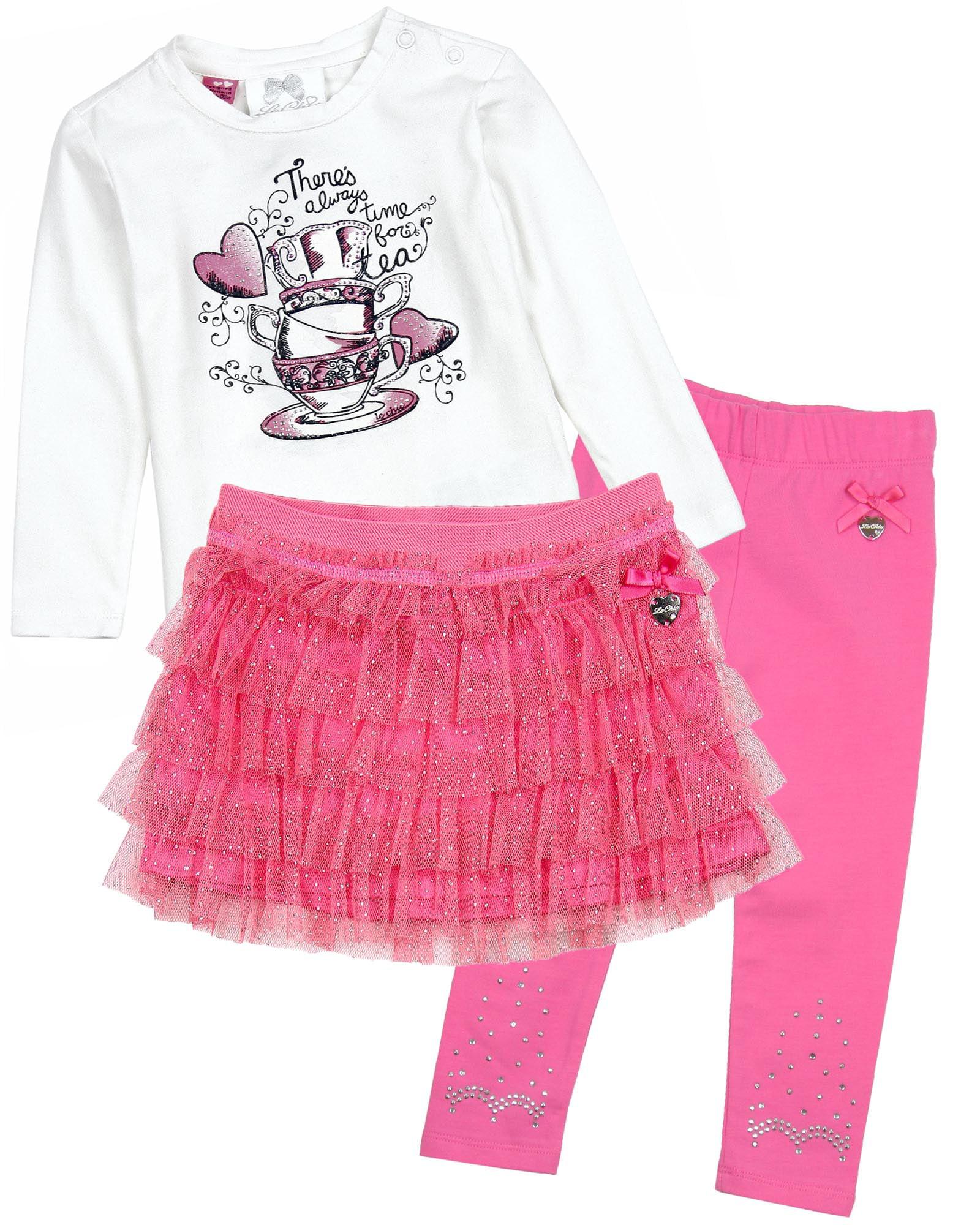 Sizes 12M-24M Le Chic Baby Girls Glitter Skirt