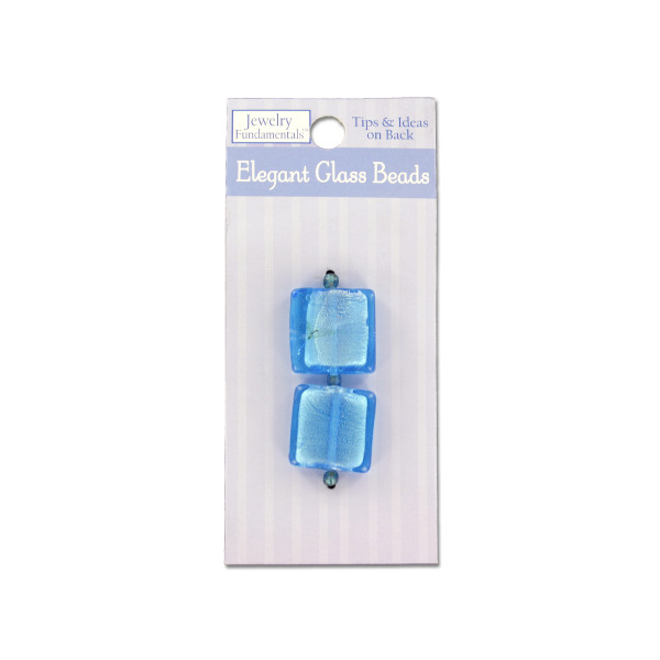 Large Square Blue Glass Beads and Spacers