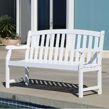 Bradley Outdoor Patio 5 Foot Wood Garden Bench Walmart Com