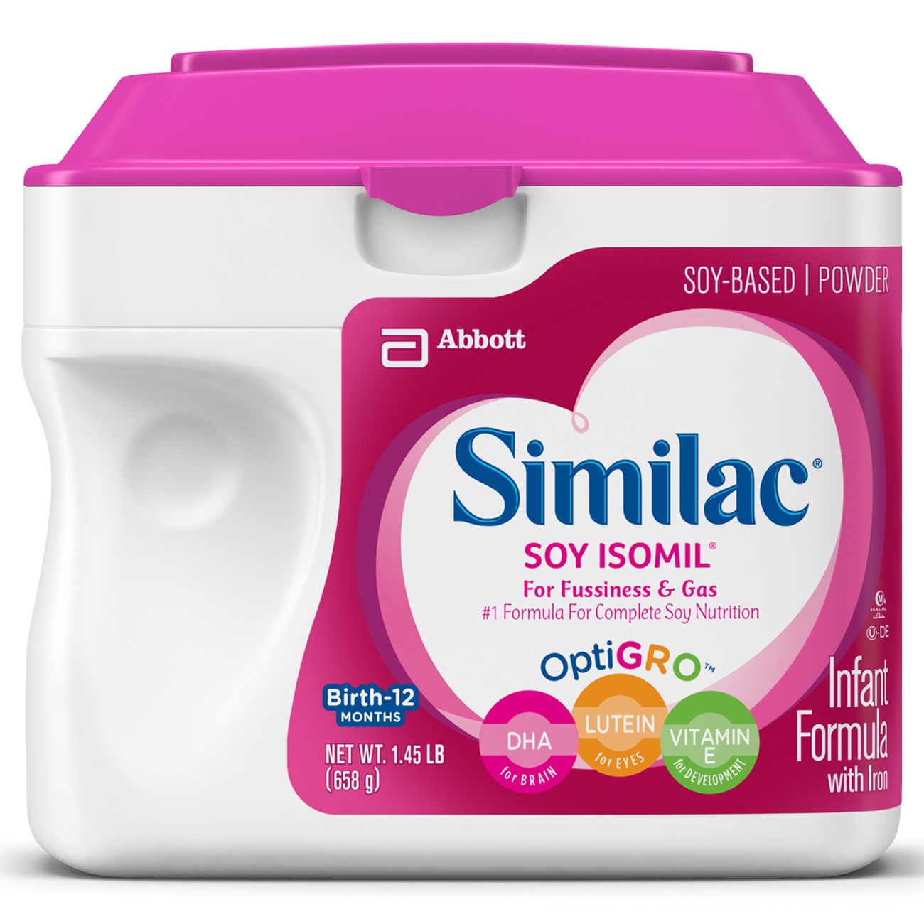 Similac Soy Isomil Infant Formula w/ Iron (Pack of 6) Powder 1.45 lb
