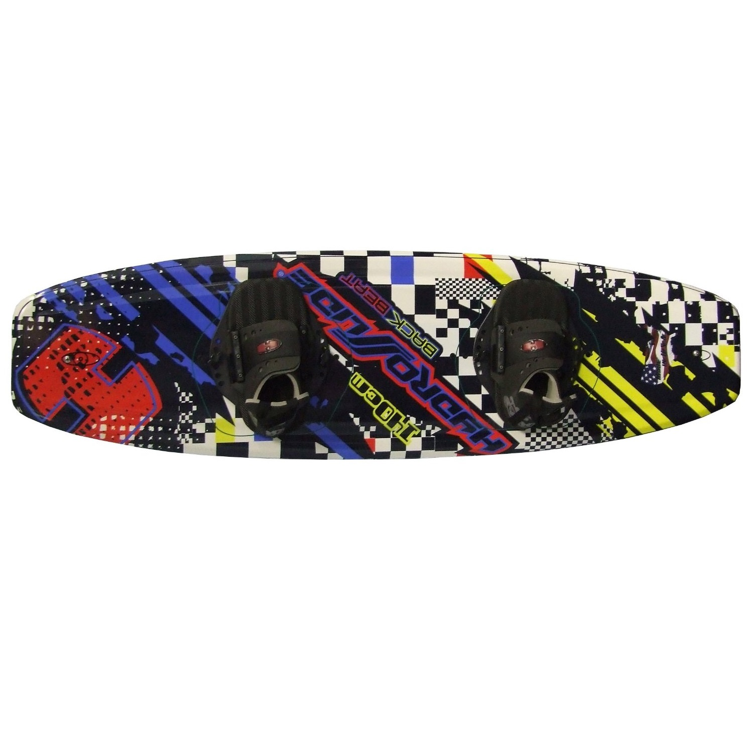 Hydroslide Back Beat Wakeboard with Grabber Bindings by HydroSlide
