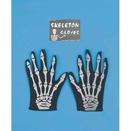 Skeleton Bones Adult Costume Glove - Skeleton Costumes For Men