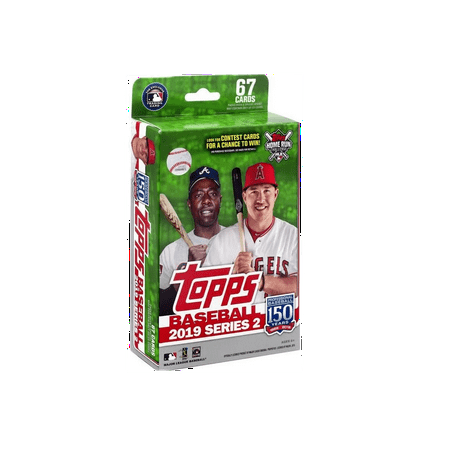 Topps Baseball Series - 2019 Topps Series 2 Baseball Hanger Box- Walmart Exclusive- Over 65 Topps Baseball Series 2 Trading Cards | Auto & Rookie Cards | Mookie Betts Exclusive