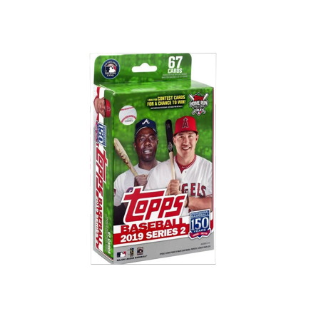 2019 Topps Series 2 Baseball Hanger Box- Walmart Exclusive- Over 65 Topps Baseball Series 2 Trading Cards | Auto & Rookie Cards | Mookie Betts Exclusive