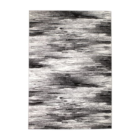Rio Collection - Gray Black Modern Splash Premium Area Rug by Rug and Decor 2x7 Runner