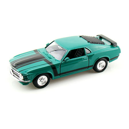 302 Mustang Engine - 1970 Ford Mustang Boss 302, Green - Maisto Special Edition 31943 - 1/24 Scale Diecast Model Toy Car