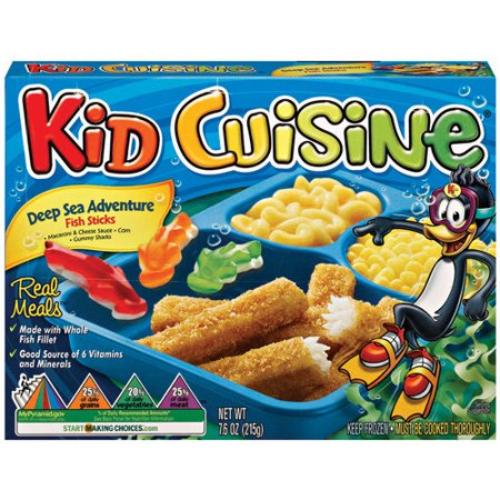Kid cuisine deep sea adventure fish sticks meal 7 6 oz for Sea city fish and chicken