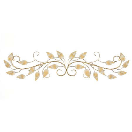 Stratton Home Decor Brushed Gold Over the Door Scroll Wall Decor
