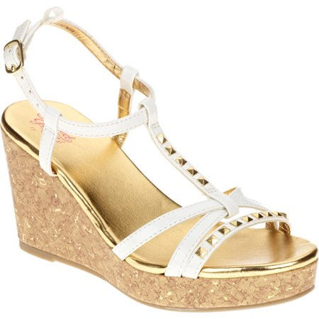Faded Glory Gmg Fg Sandal Stud Wedge Walmart Com