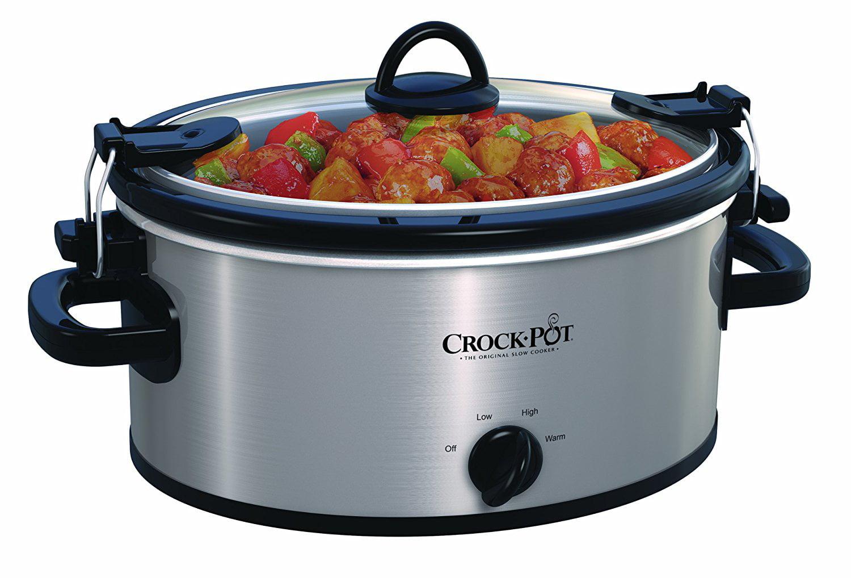Crock-Pot Cook & Carry Slow Cooker, 4 Quart (SCCPVL400-R) by Sunbeam Products Inc.