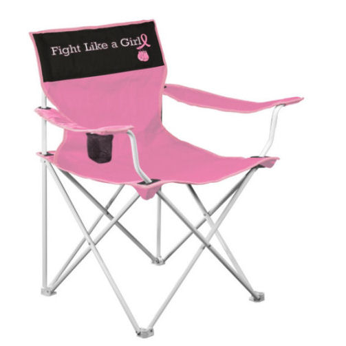 Logo Chair 405-13 Fight Like A Girl Canvas Chair