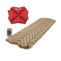 Klymit Insulated Static V Recon Sleeping Pad Travel Mat w/ Pillow X Red