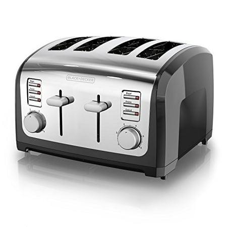 BLACK+DECKER 4-Slice Toaster, Stainless Steel, T4030 - image 5 de 5