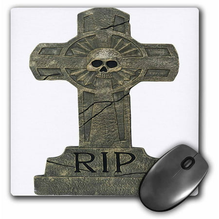3dRose Halloween RIP Headstone, Mouse Pad, 8 by 8 inches