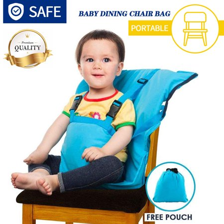 Amerteer Easy Seat Portable Travel High Chair Safety Washable Cloth Harness for Infant Toddler Feeding with Adjustable Straps Shoulder Belt,Holds Up to 44lbs (Travel High Chair Cloth)