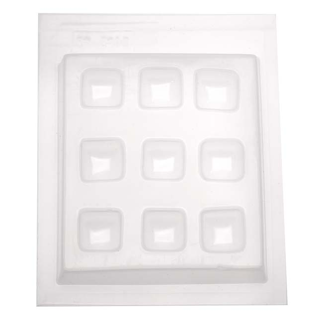 Resin Epoxy Mold For Jewelry Casting - 9 Squares 3/4 Inch