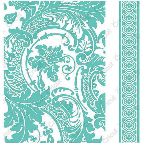 "Cuttlebug 5""X7"" Embossing Folder/Border Set-Anna Griffin Acanthus"
