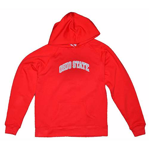 Ohio State Buckeyes Women's Hooded Sweatshirt - Ohio State Arched - By Champion - Scarlet