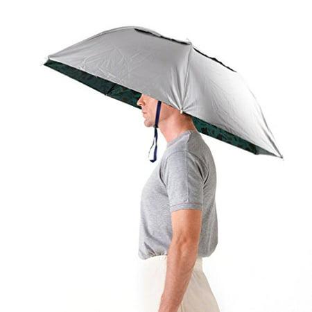 Folding Umbrella Hat - Great for Gardening & Outdoor Activities by Luwint - Umbrella Hat