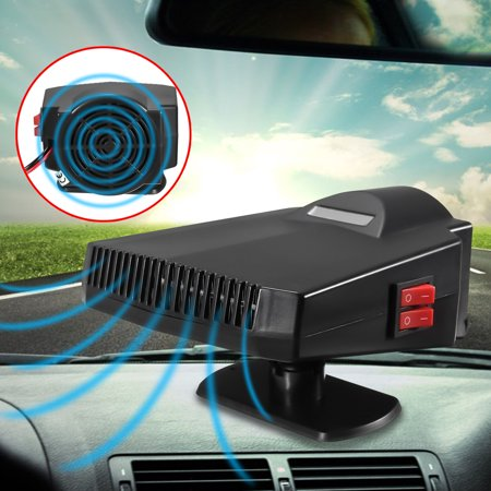 Portable Car Heater, 60 Seconds Fast Heating Quickly Cooling Fan 12V 200 W Auto Defogger Defroster Plug in Cig Lighter with 360° Rotating Base ()
