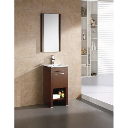 "Fine Fixtures Modena 16-inch Vanity with Vitreous China Sink Top Modena 16"" Wenge Vanity"