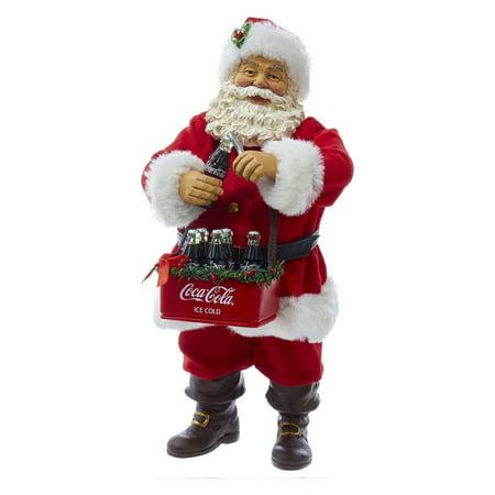 Kurt Adler 10-Inch Santa Opening Coke Tablepiece
