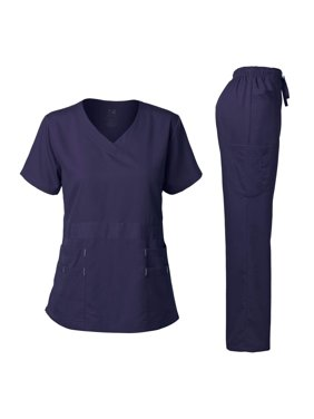 Dagacci Medical Uniform Women's Scrubs Set Stretch Ultra Soft Top and Pants