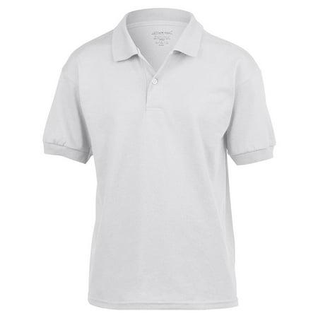 cc3140eb0 Gildan - Gildan 8800B DryBlend Youth Polo Shirt -White-Small - Walmart.com