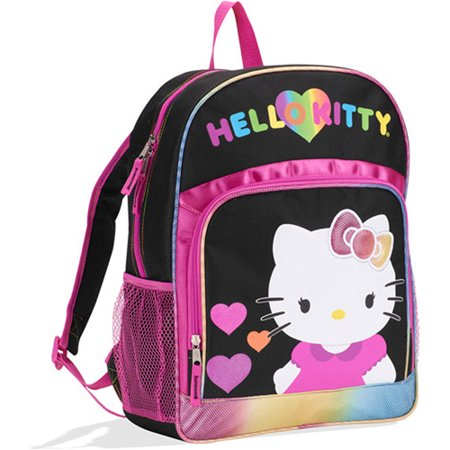 Hello Kitty Black Rainbow Hearts Backpac - Walmart.com 1d818405fae16