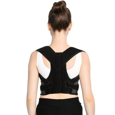 HERCHR Posture Corrector Brace, Clavicle Support Straightener, Upper Back Shoulder Forward Head Support, Back Shoulder Brace Posture Belt, Back Support With Short Steel Plate Posture Correction Belt ()